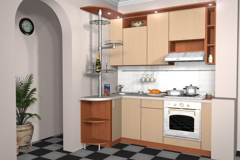 Маленькие кухни с колонкой дизайн